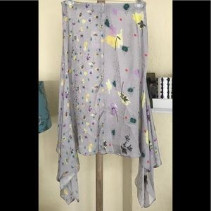 Topshop Boutique floral skirt grey 40 8 new